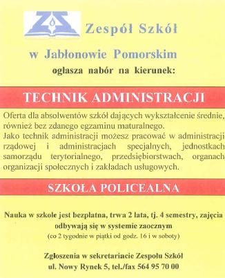 Nabór do Szkoły Policealnej – Technik administracji