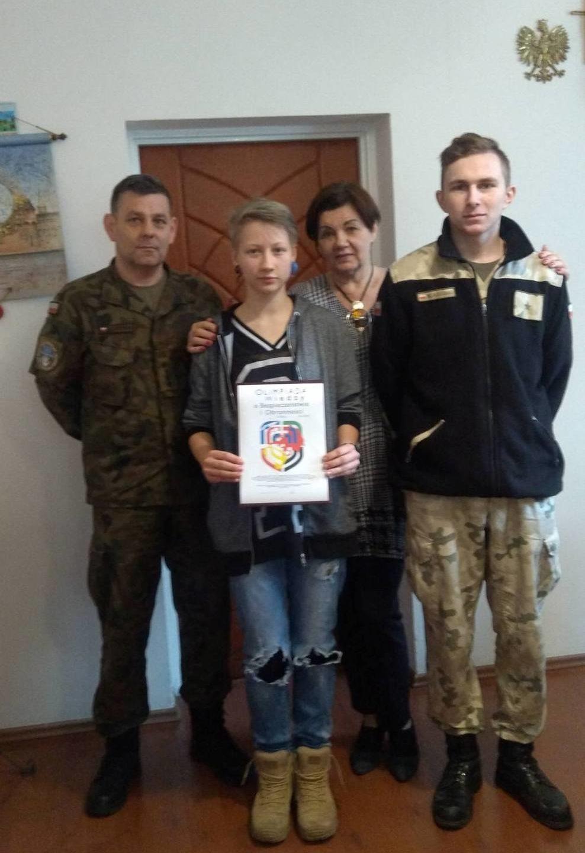 Mundurowcy na Ogólnopolskiej Olimpiadzie Wiedzy o Bezpieczeństwie  i Obronności